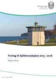 Miljøvurdering - Forslag til Spildevandsplan 2013-2016 - Aarhus.dk