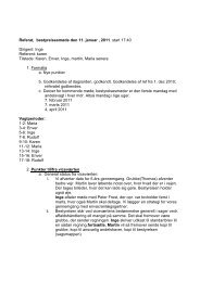 Referat, bestyrelsesmøde den 11. januar , 2011. start 17:40 Dirigent ...