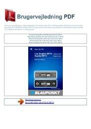 Brugsanvisning BLAUPUNKT SEATTLE MP74 - Brugervejledning