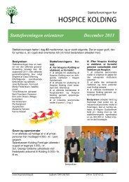Nyhedsbrev 1 - Støtteforeningen for HOSPICE KOLDING
