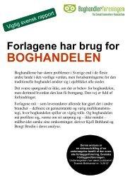 Forlag behøver boghandel - Dansk udgave - Boghandlerforeningen