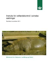 Instruks om velfærdskontrol i svinebesætninger - Vilkår og regler for ...