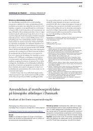 Anvendelsen af tromboseprofylakse på kirurgiske afdelinger i ...