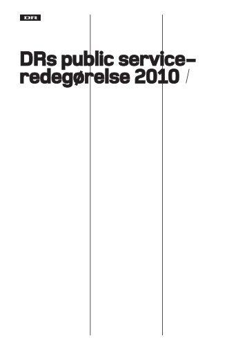 DRs public service- redegørelse 2010