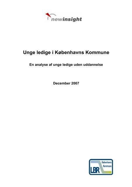 Unge ledige i Københavns Kommune - New Insight A/S