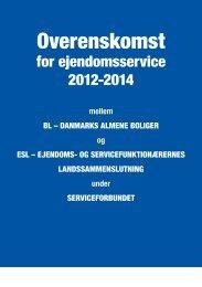 Overenskomst - Ejendoms- og servicefunktionærernes ...