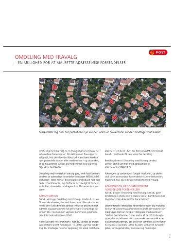 OMDELING MED FRAVALG - Post Danmark