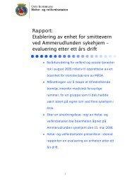 Rapport: Etablering av enhet for smittevern ved ... - Helseetaten
