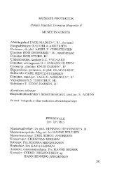 Museets komite, beretning, driftsregnskab og medlemsliste til