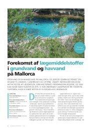 Forekomst af lægemiddelstoffer i grundvand og havvand på Mallorca