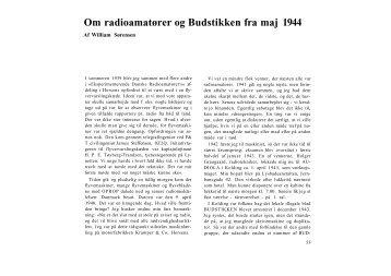 Om radioamatører og Budstikken fra maj 1944