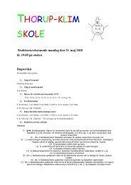 Elegant brev - Thorup-Klim skole