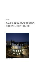 3 års afrapportering maj 2013 - Green Lighthouse - Københavns ...