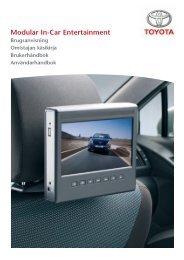 Modular In-Car Entertainment - Toyota-tech.eu