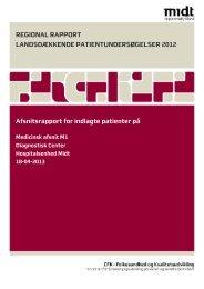 Medicinsk afsnit M1 - CFK Folkesundhed og Kvalitetsudvikling ...