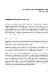 Langvarige varetægtsfængslinger 2005 - Justitsministeriet