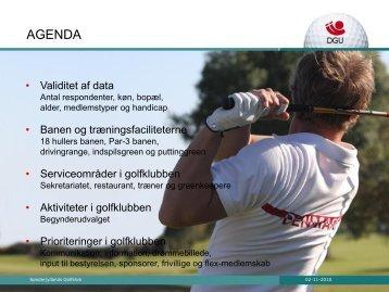 Medlemsundersøgelse - Sønderjyllands Golfklub