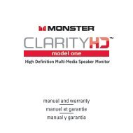 manual and warranty manuel et garantie manual y ... - Monster Cable