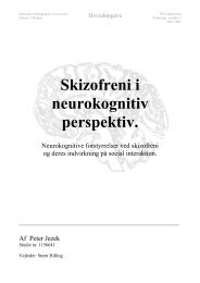 Skizofreni i neurokognitiv perspektiv. - Hosting by Talk Active
