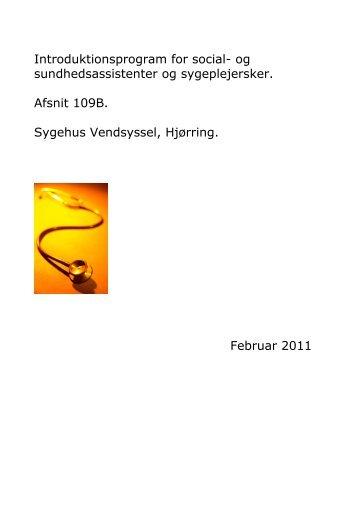 Introduktionsprogram for social - Sygehus Vendsyssel