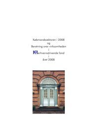 Købmandssektoren i 2008 og Beretning over virksomheden i ... - KFI