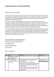 Årsplan for historie i 6. klasse 2011/2012 - Esajasskolen
