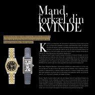 Mandens eneste rigtige smykke er et ur. Kvinden er derimod så ...