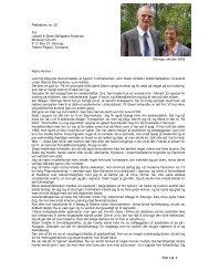 Side 1 af 2 Fællesbrev no. 22 Fra Lisbeth & Steen Møllgaard ...