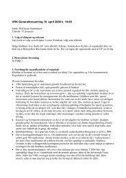Referat af generalforsamlingen