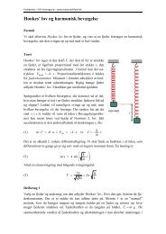 Hookes' lov og harmonisk bevægelse - matematikfysik