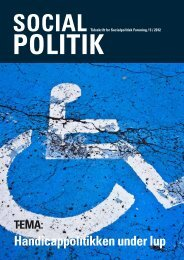 Nr. 5 Handicappolitikken under lup - Socialpolitisk Forening