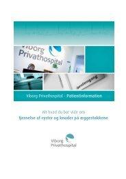 + Patientinformation om fjernelse af cyster og knuder på ...