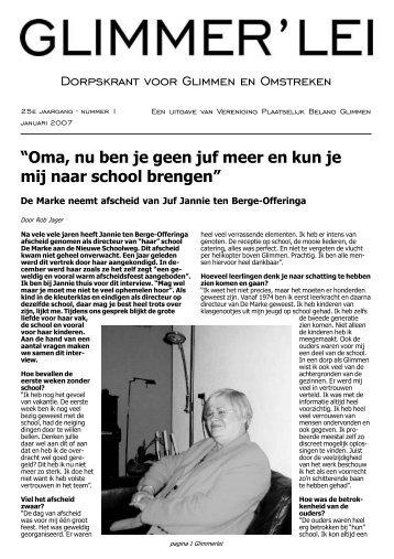 Glimmer'lei januari 2007 - Glimmen