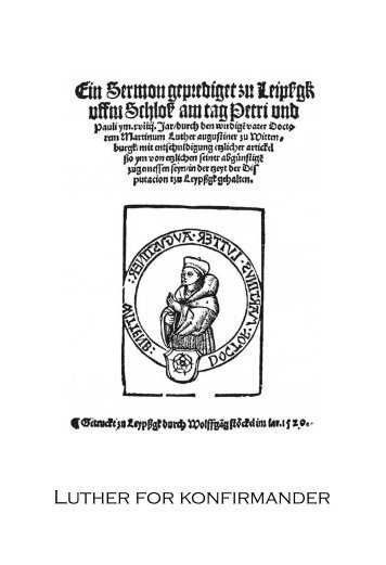 Luther for konfirmander - roskildeundervisning.dk