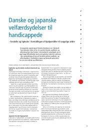 Danske og japanske velfærdsydelser til handicappede - Hjælpemidler