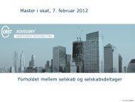 Master i Skat 2012 - Corit Advisory