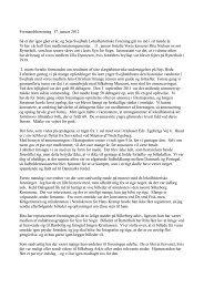 formandsberetningen (.PDF) - Sejs-Svejbæk Lokalhistorie