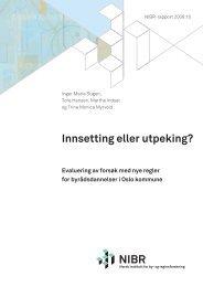 Innsetting eller utpeking? - Norsk institutt for by- og regionforskning