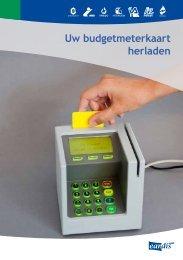 Uw budgetmeterkaart herladen - Eandis