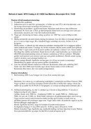 Referat af møde i BTK tirsdag d. 8/1 2008 hos Malene, Skovvejen 45 ...
