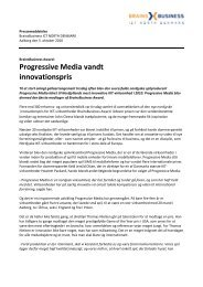 Progressive Media vandt innovationspris - BrainsBusiness