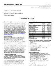 GenElute HP 96 Well Plasmid Miniprep Kit (NA9604 ... - Sigma-Aldrich