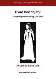 Hvad hed tøjet. Dragtbetegnelser fra 1380-1420 - Middelaldercentret