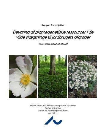 Bevaring af plantegenetiske ressourcer i de vilde ... - NordGen