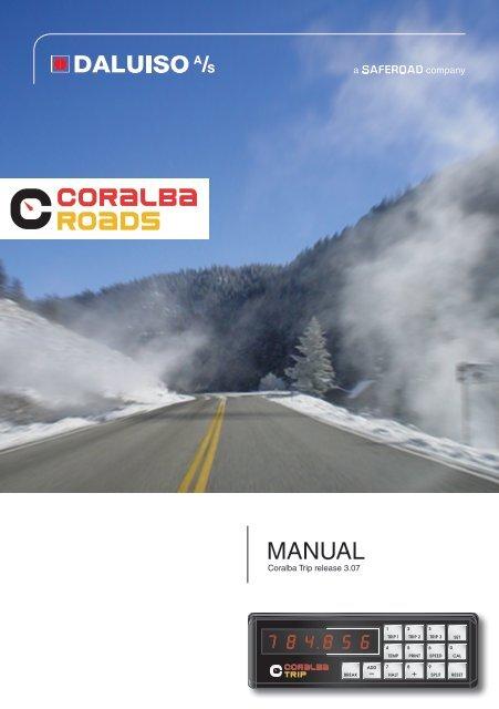 manual for Coralba triptæller - Daluiso A/S
