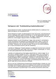afgivet høringssvar - DSKS - Dansk Selskab for Kvalitet i ...