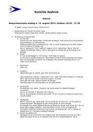 Referat August 12 - Roskilde Sejlklub