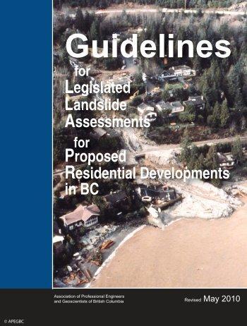 Guidelines for Legislated Landslide - APEGBC