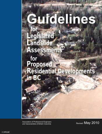 Guidelines for Legislated Landslide - APEGBC