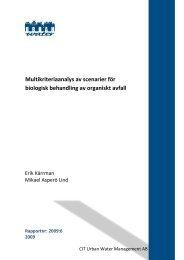 Multikriteriaanalys av scenarier för biologisk ... - Urban Water